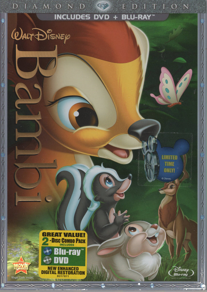 Bambi Diamond Edition 2 Disc Combo DVD + Blu-Ray, Used, Very Good Condition
