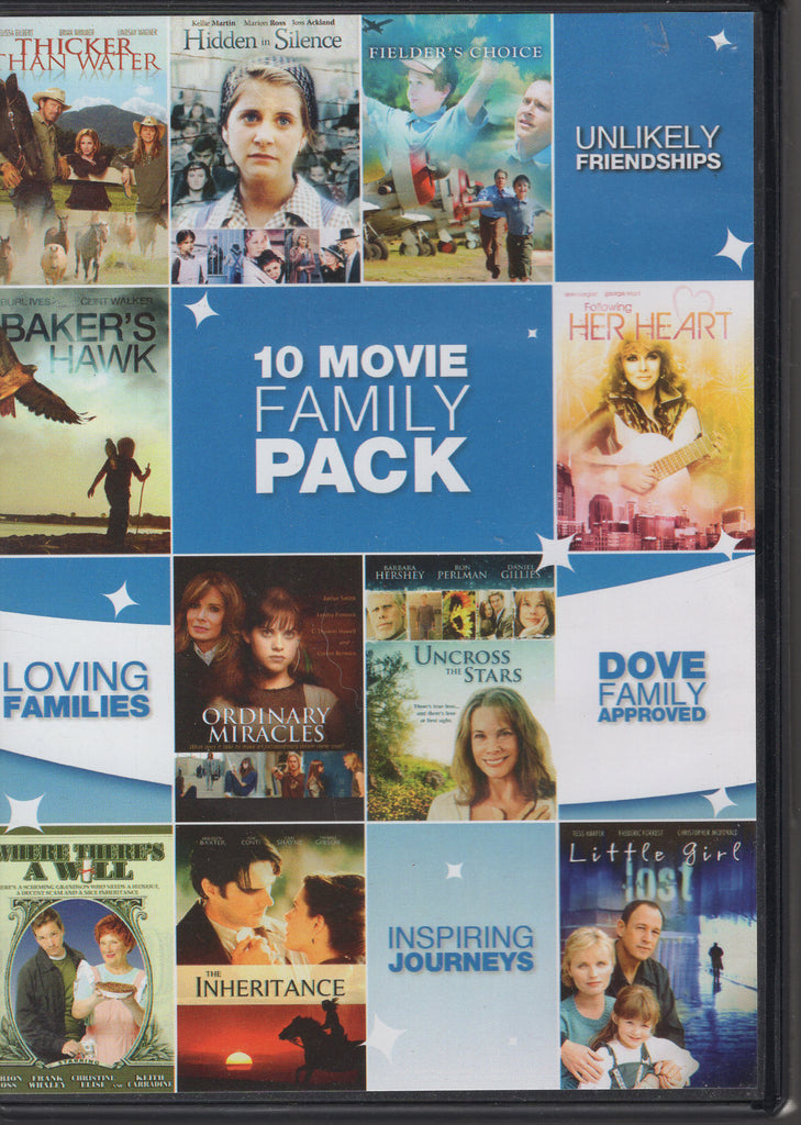 10 Movie Family Pack 2011, 2-Disc Set DVD, Used, Very Good Condition