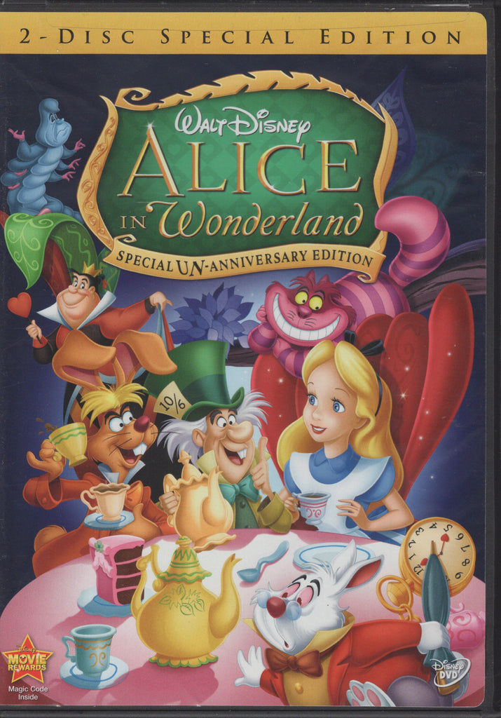 Alice in Wonderland (Two-Disc Special Un-Anniversary Edition) DVD, Like New