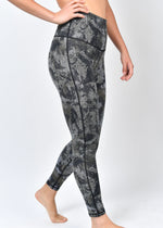 High Waisted Dark Ocean Leggings
