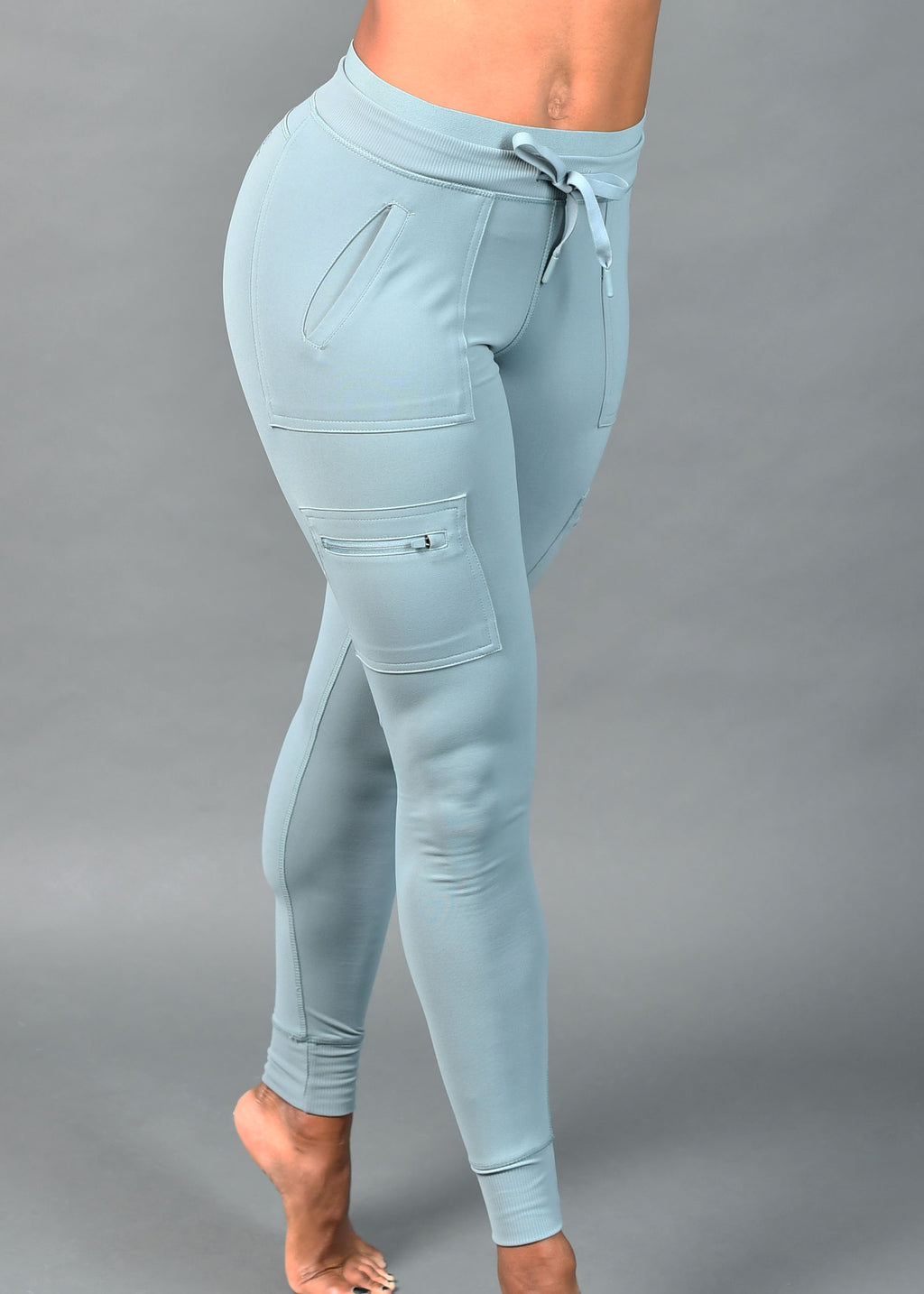 Powder Blue Cargo Leggings