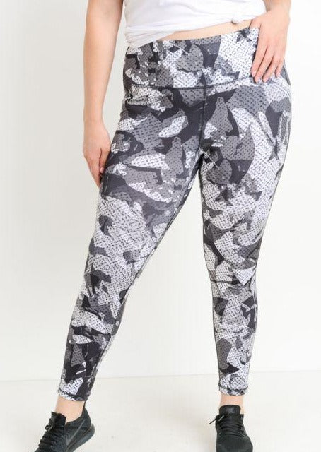 Plus Size Kaleidoscope Camo Leggings