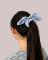 Striped Bow Scrunchie