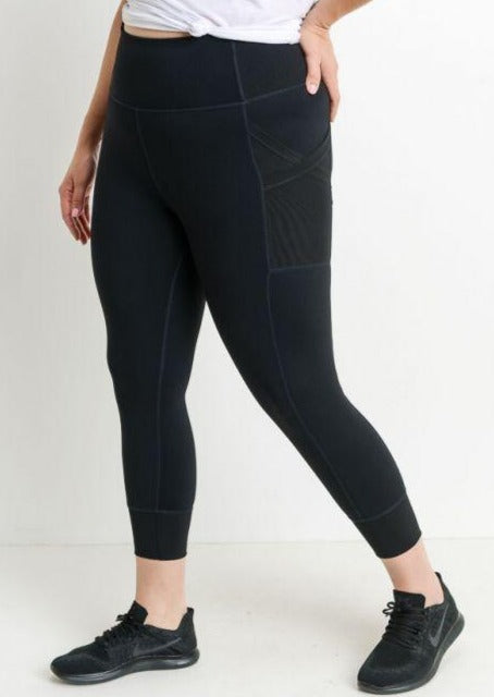 Plus Size High Waisted Capri Leggings