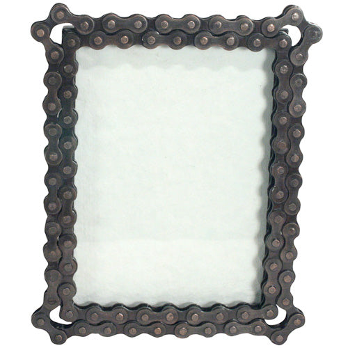 Picture Frame - Recycled Bike Chain - Noah\'s Ark – Re.Bicycling