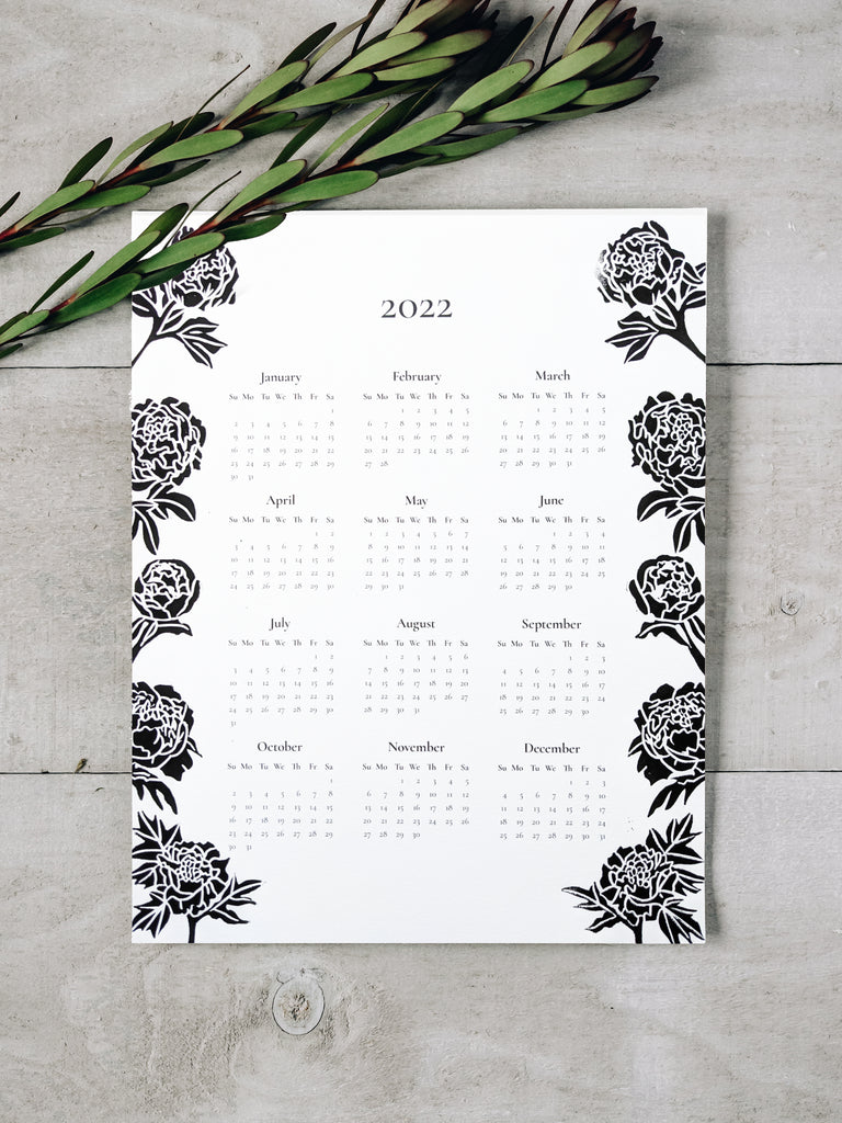 2021 Year-at-a-Glance Calendar