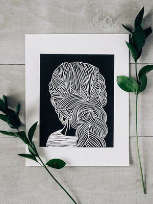 French Braid Print