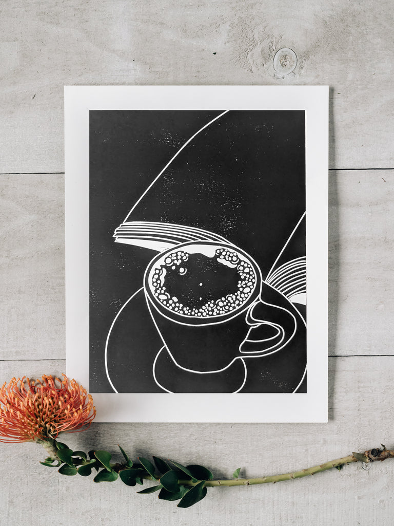 Coffee and a Book Print