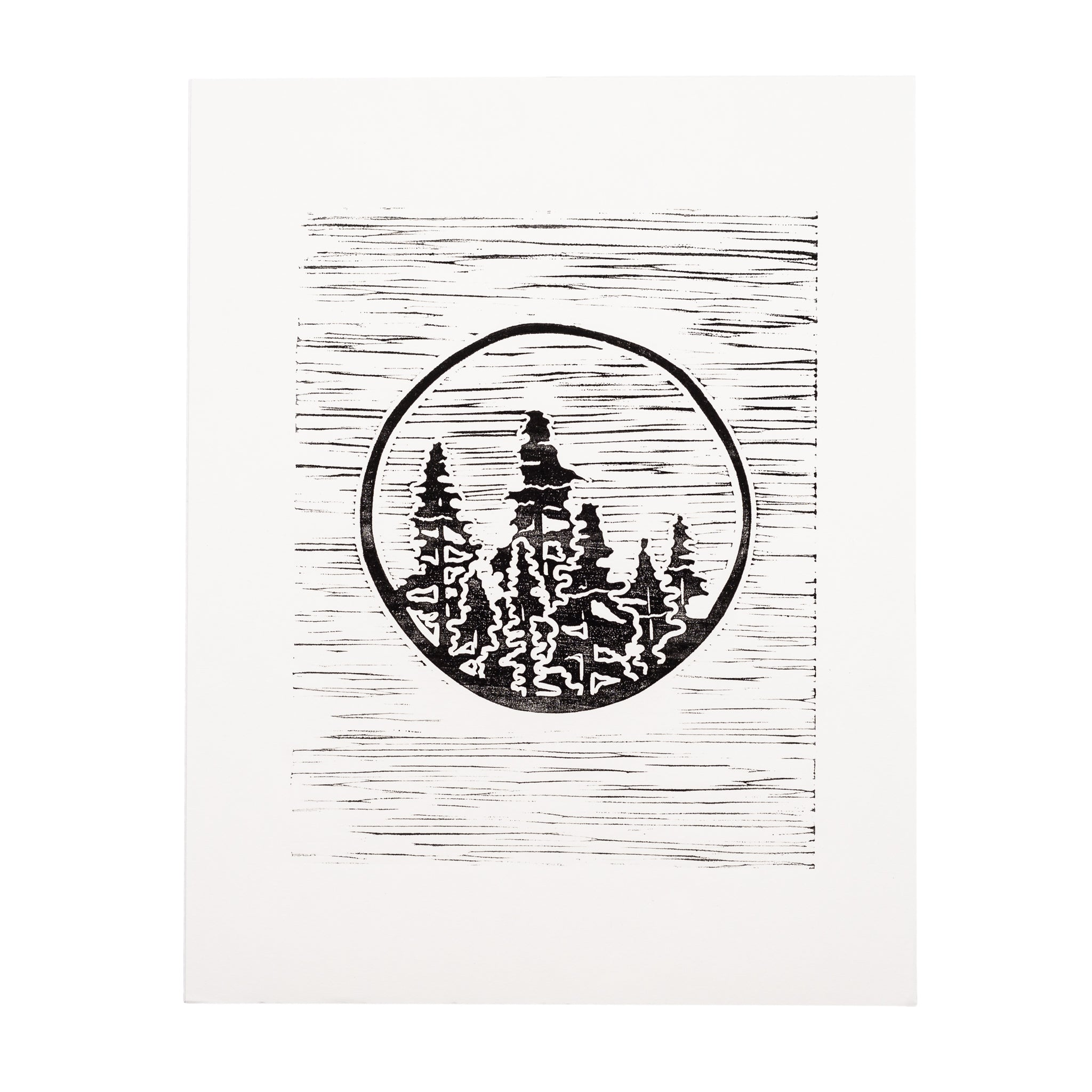 Evergreen Forest Print