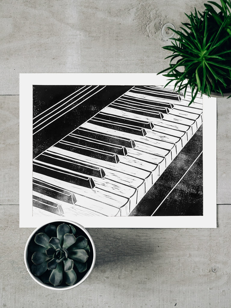Piano Keyboard Print