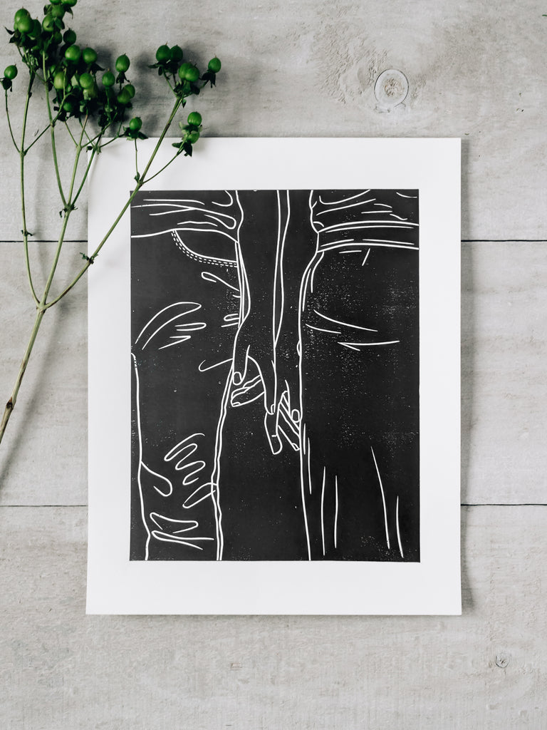 Minimalist Couple Print
