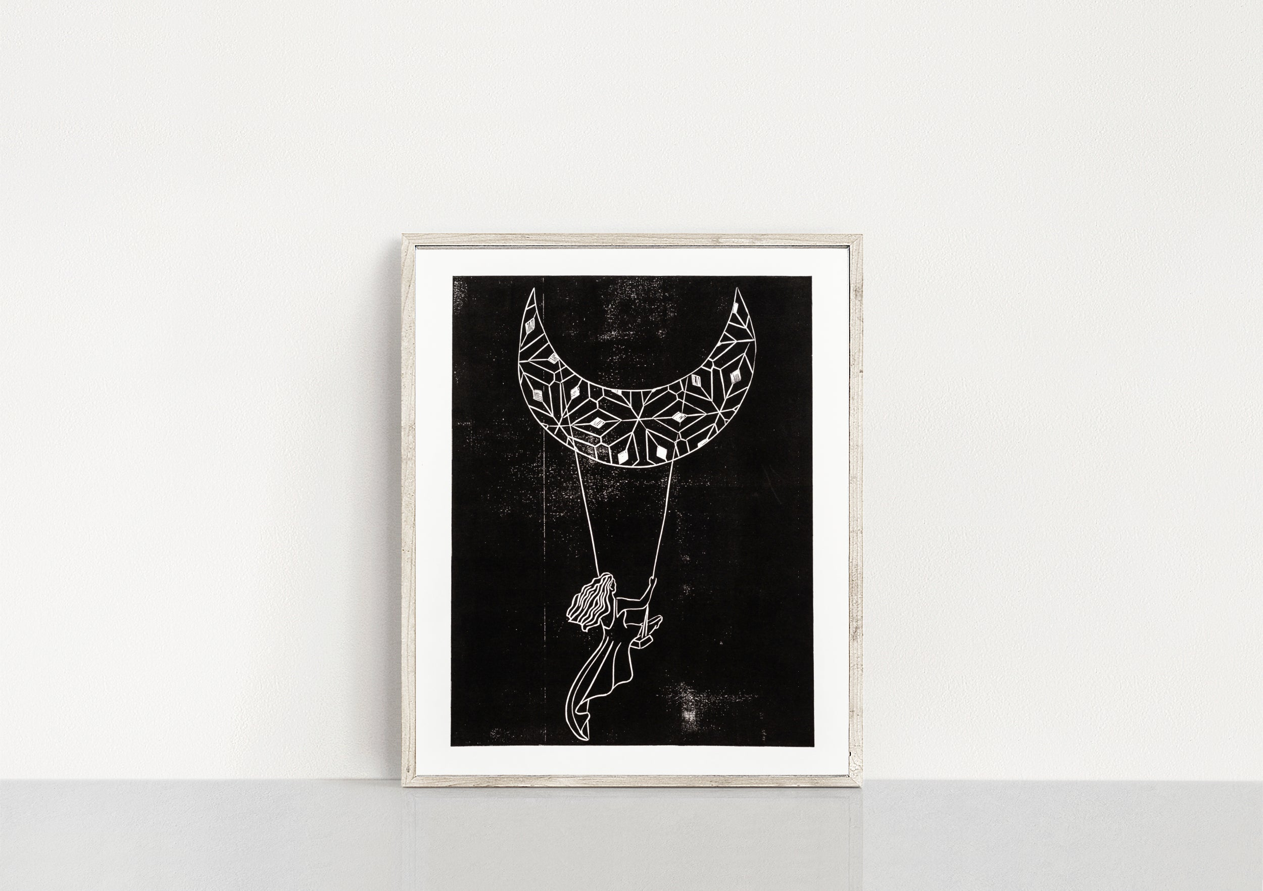Swinging Moon Print
