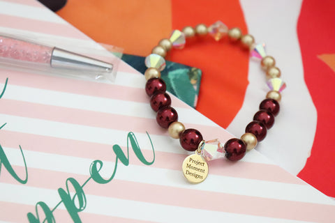 holiday gift set with handmade jewelry and agenda