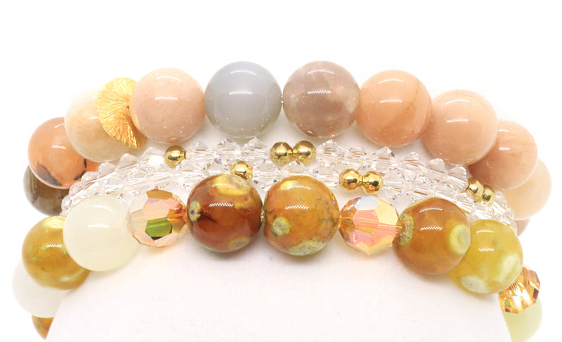 black-tourmaline-and-quartz-gemstone-bracelet-handmade