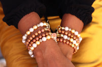 Splendor Rose Gold Beaded Bracelet