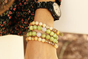 yellow sunstone gemstone beaded bracelet fall collection