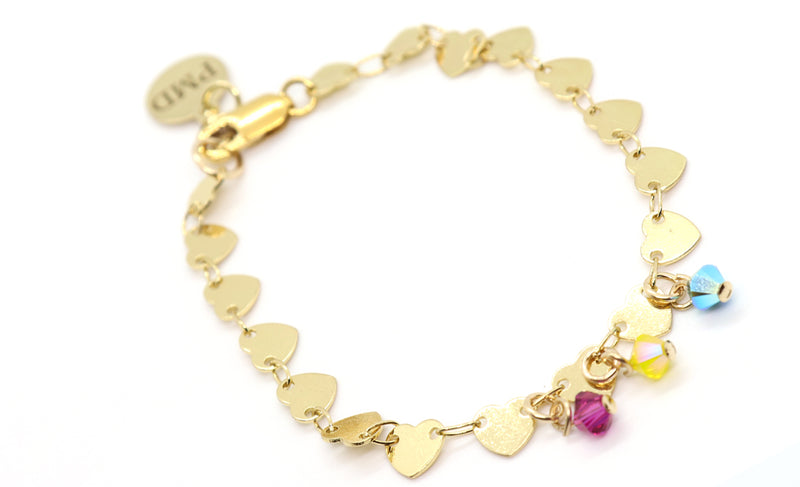 heart-chain-bracelet-personalized-charms-handmade-tampa