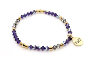 crystal grey and purple swarovski crystal bracelet fall collection