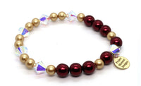 holiday swarovski and gold pearl bracelet