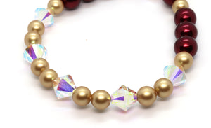 burgundy-pearl-and -warovski-crystal-bracelet