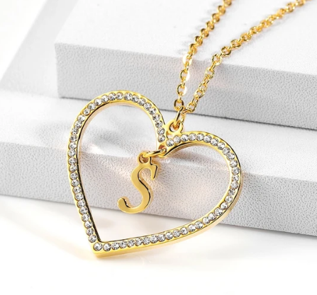 Collier Amour Initiale avec Strass