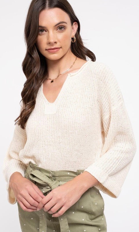 Natural Knit Top