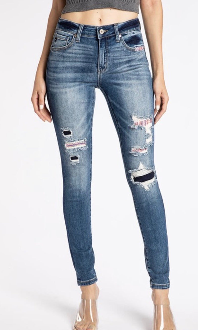 Holiday Patch KanCan Denim