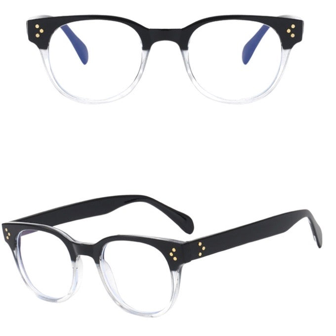 Retro Black & Clear Blue Light Blockers