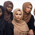 Soft Solid Bubble Scarf Hijab - BuyModest.com