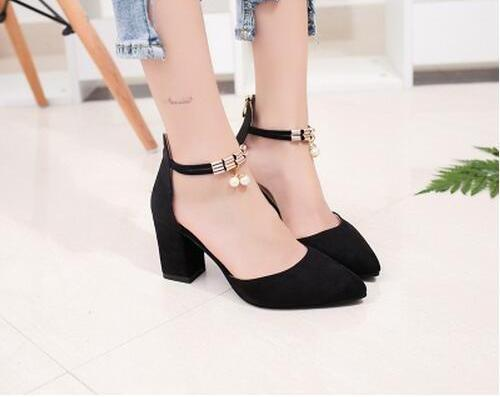 Elegant Pointed Toe High Heel Shoes - 2 Colours - BuyModest.com