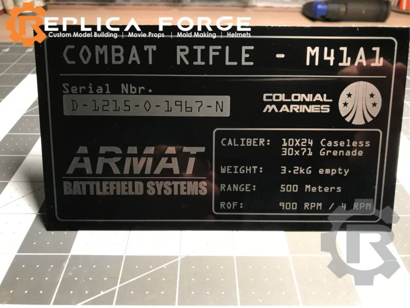 M4A1 Name Plate
