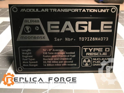 Spae 1999 Eagle Laser Etched Plate (TYPE D)