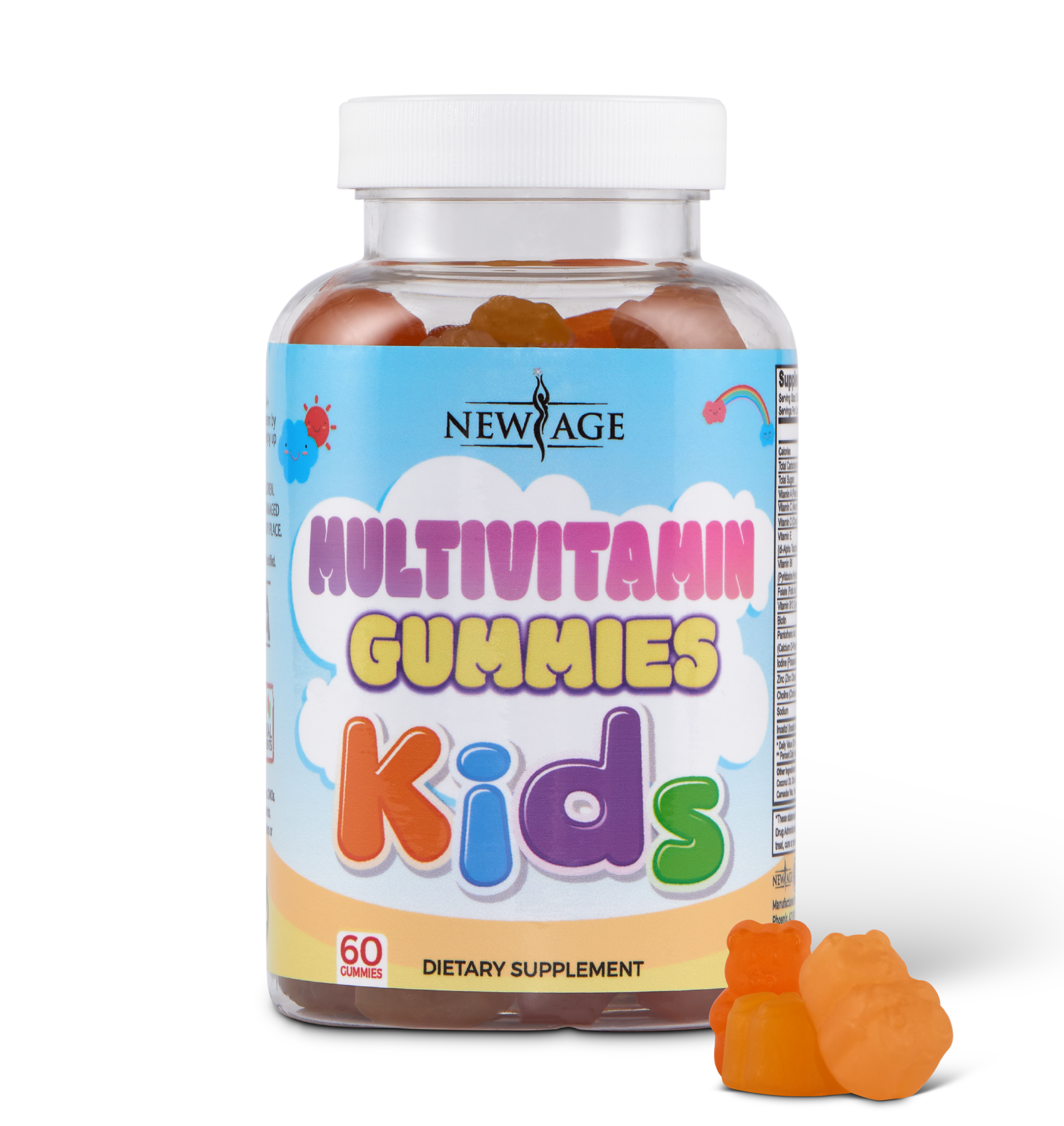 New Age Kids Multivitamin Gummies - One Bottle
