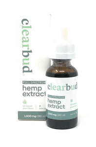 Clearbud 1000mg Full Spectrum Hemp Extract tincture