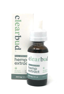 Clearbud 250mg Full Spectrum Hemp Extract tincture