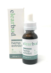 Clearbud 500mg Full Spectrum Hemp Extract Tincture