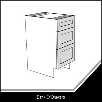 Standard Shaker Bank of Drawers