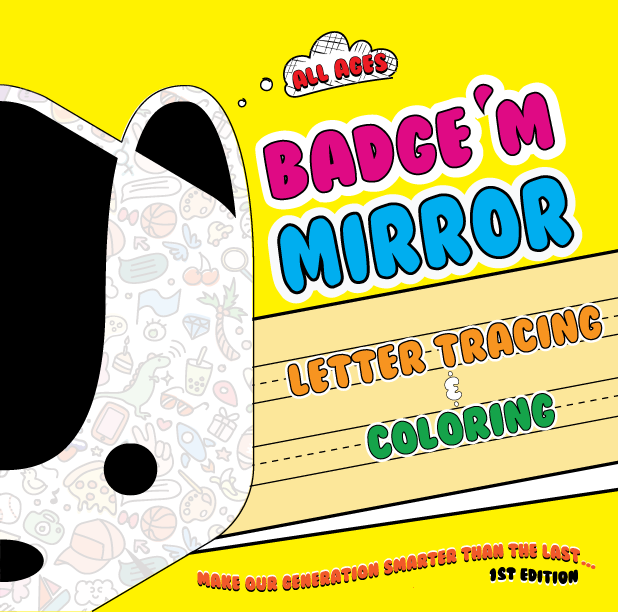 Badge'M Mirror Lettering & Coloring