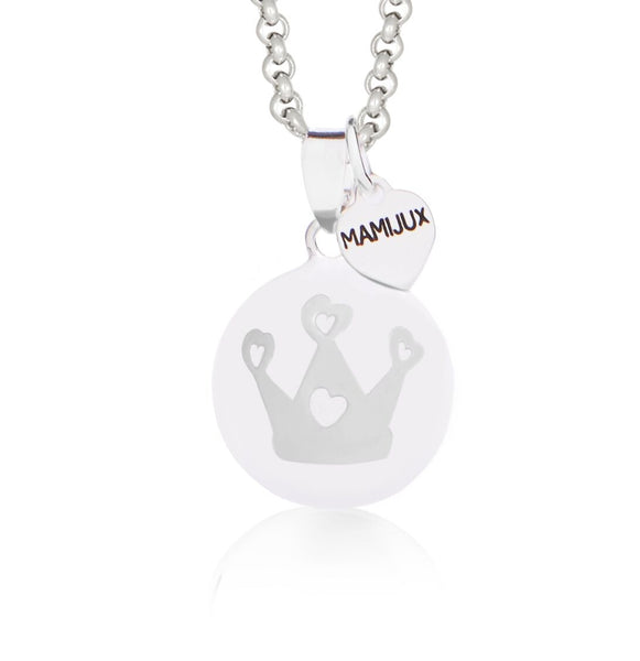 Harmony Ball White enameled with Crown