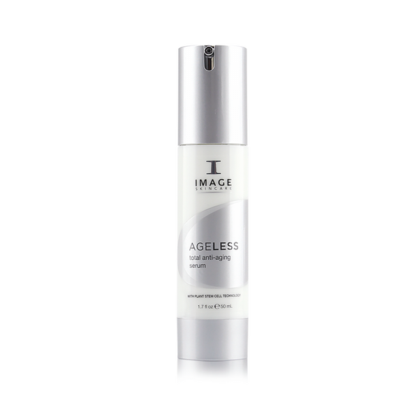 AGELESS total anti-aging serum - This concentrated corrective and protective serum is rich in plant-derived stem cells, phytonutrients and vitamin C to counteract the visible effects of aging while helping skin fight back against future damage.