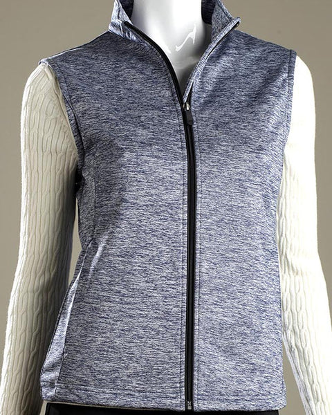 Stretch Tech Melange Full Zip Vest