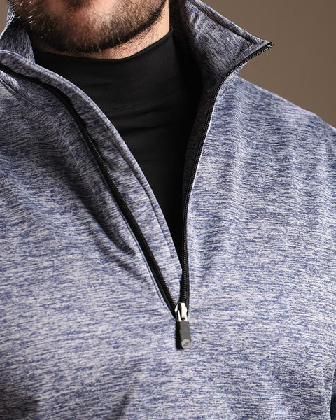 Stretch Tech Melange Quarter Zip Pullover