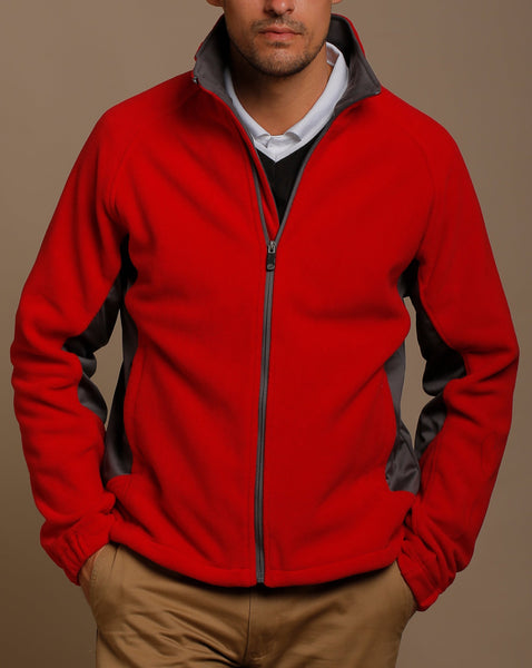 Sueded Fleece Jacket with Stretch Tech Panels