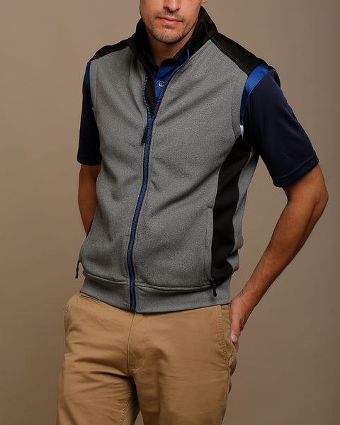 Heather Knit Color Block Vest