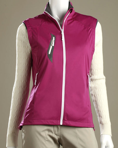 Stretch Tech Water Repellent Full Zip Vest