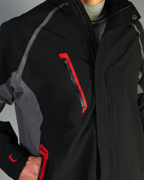 Stretch Tech Rain Jacket with Zip off Sleeves