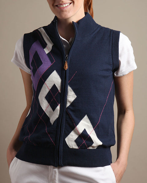 Windproof Lined Full Zip Sweater Vest