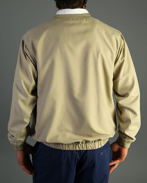 Microfiber V-neck Lined Wind Shirt