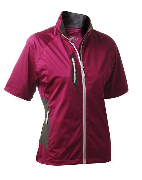 Stretch Tech Water Repellent Full Zip Half Sleeve Jacket