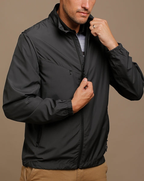 Ultra Light Water Repellent Jacket with Hidden Shoulder Vents